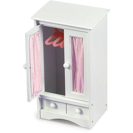 Badger Basket Doll Armoire With Hangers, Fits Most 18 Inch Dolls U0026 My Life  As