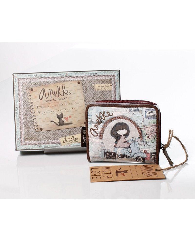Cartera billetero mini de la colección traveller Anekke