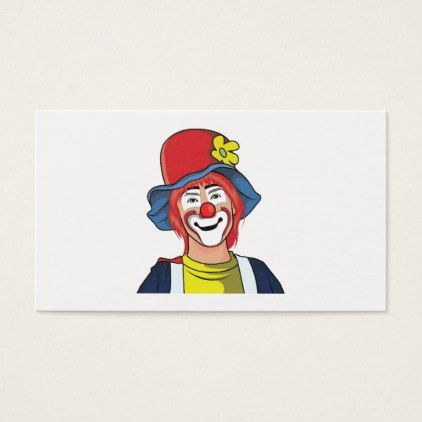 Clown business card business cards and business clown business card colourmoves