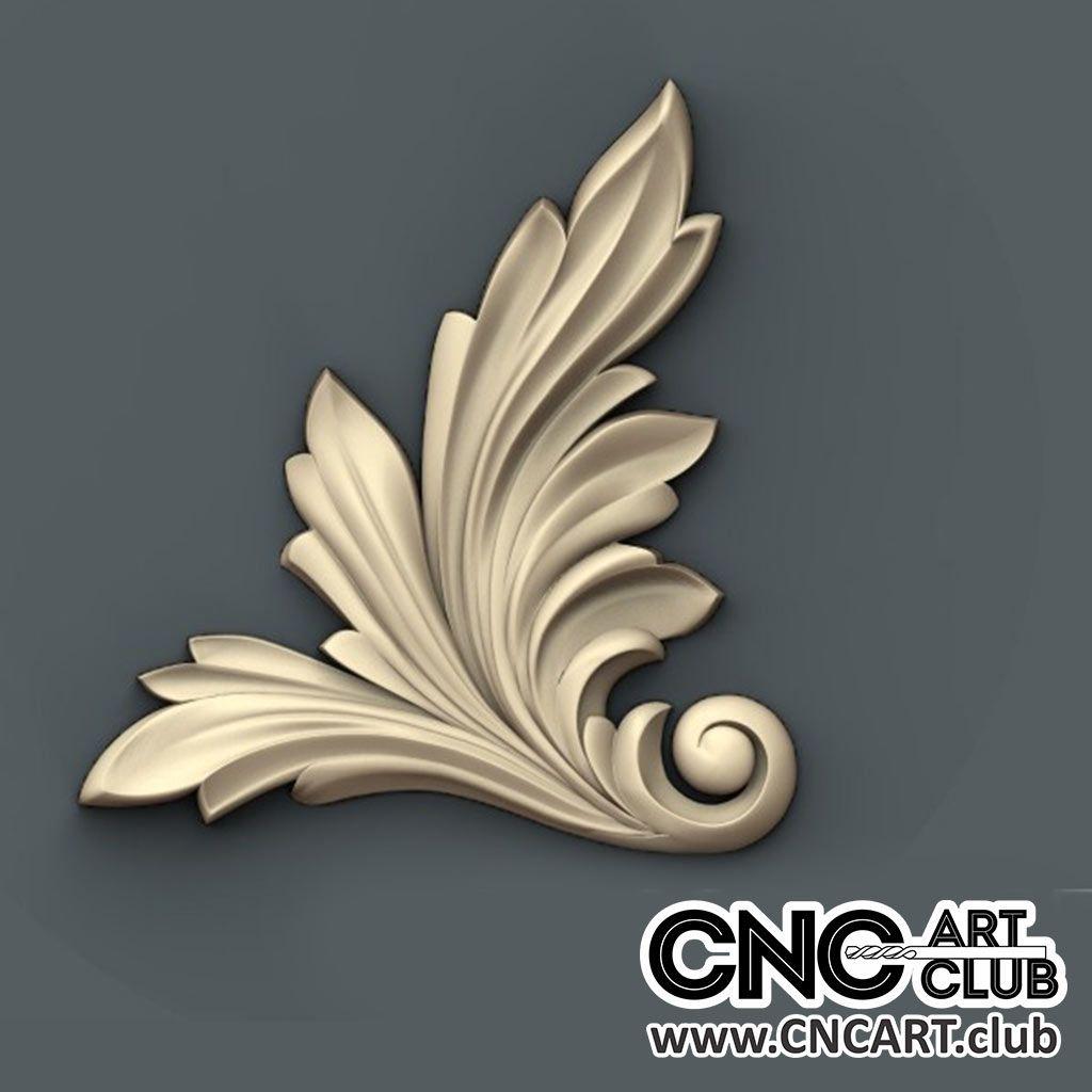 Corner 1013 Decorative Big Leaf Design For CNC Machine