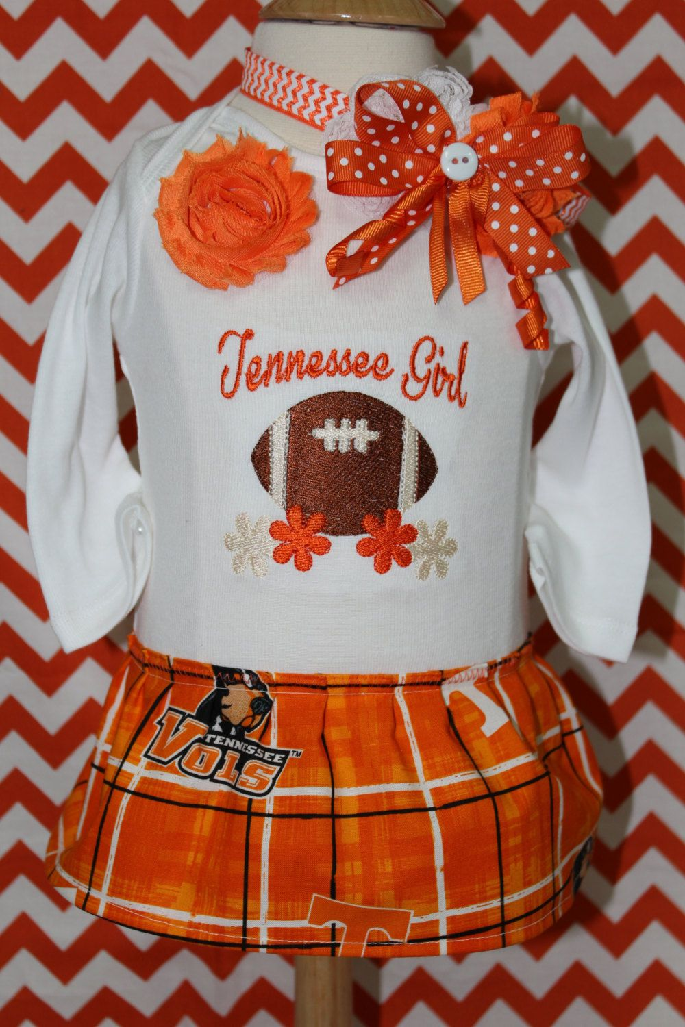 Tennessee baby girl onesie, University of Tennessee girl