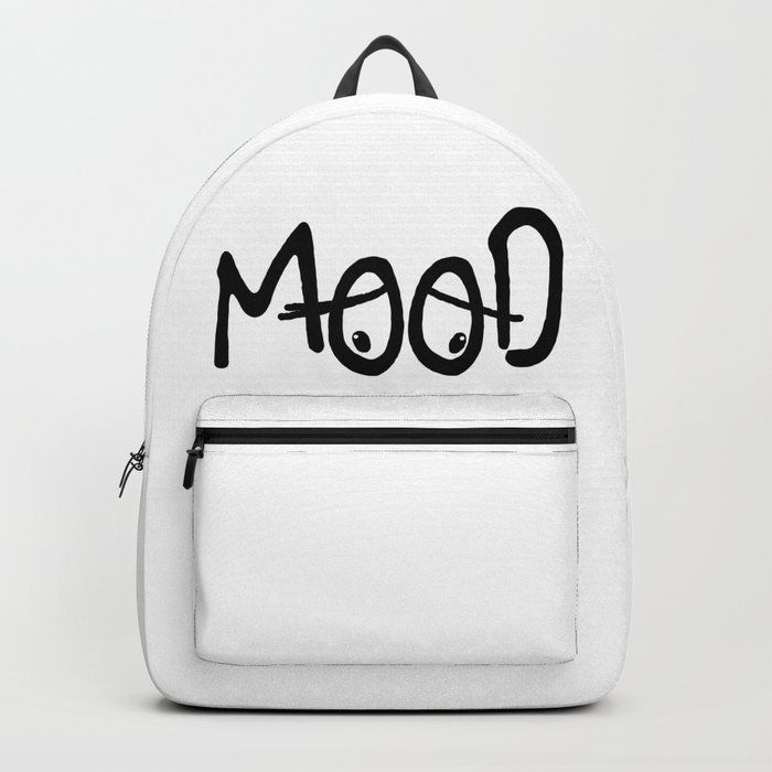 Mood Backpack by dailyinspiration white black backpack Mood Backpack