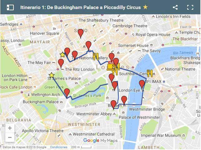 Ruta Por Londres Buckingham Palace A Picadilly Circus Londres Londres En 3 Dias Viajes A Londres