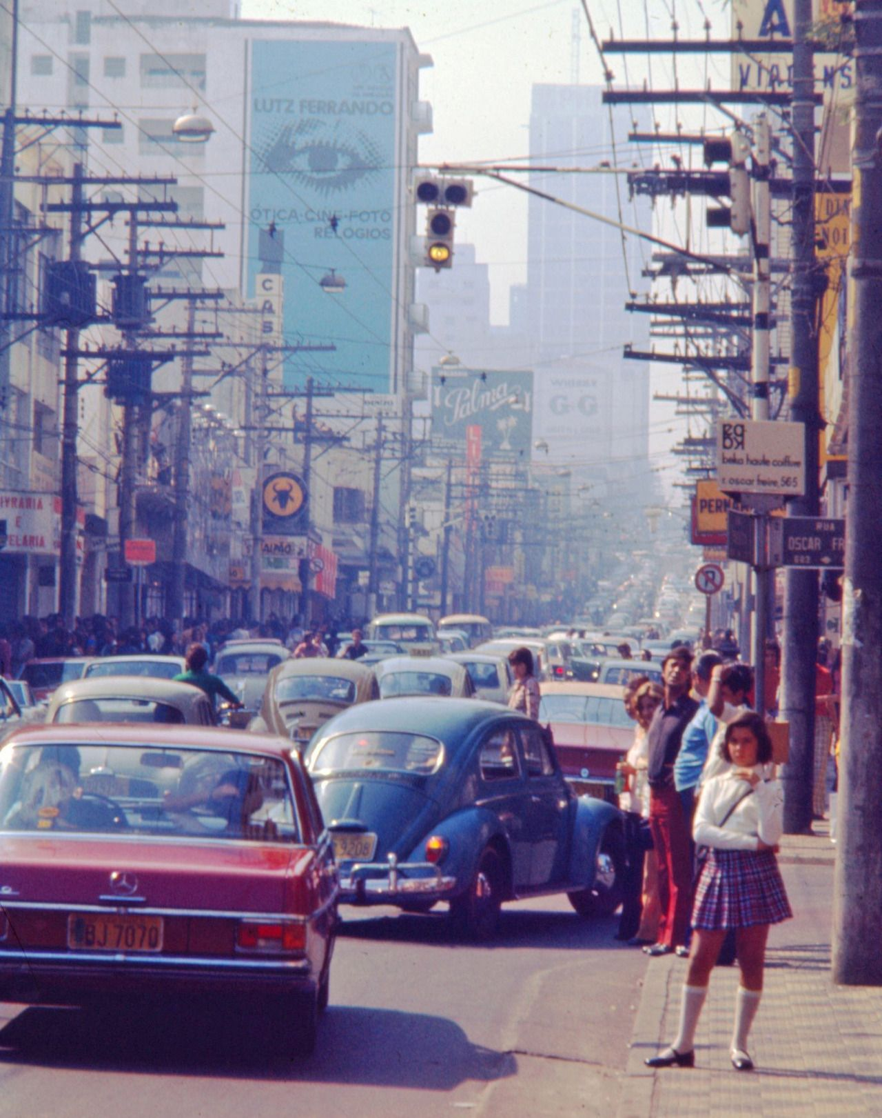 Augusta Street In The 70 S Sao Paulo Brazil