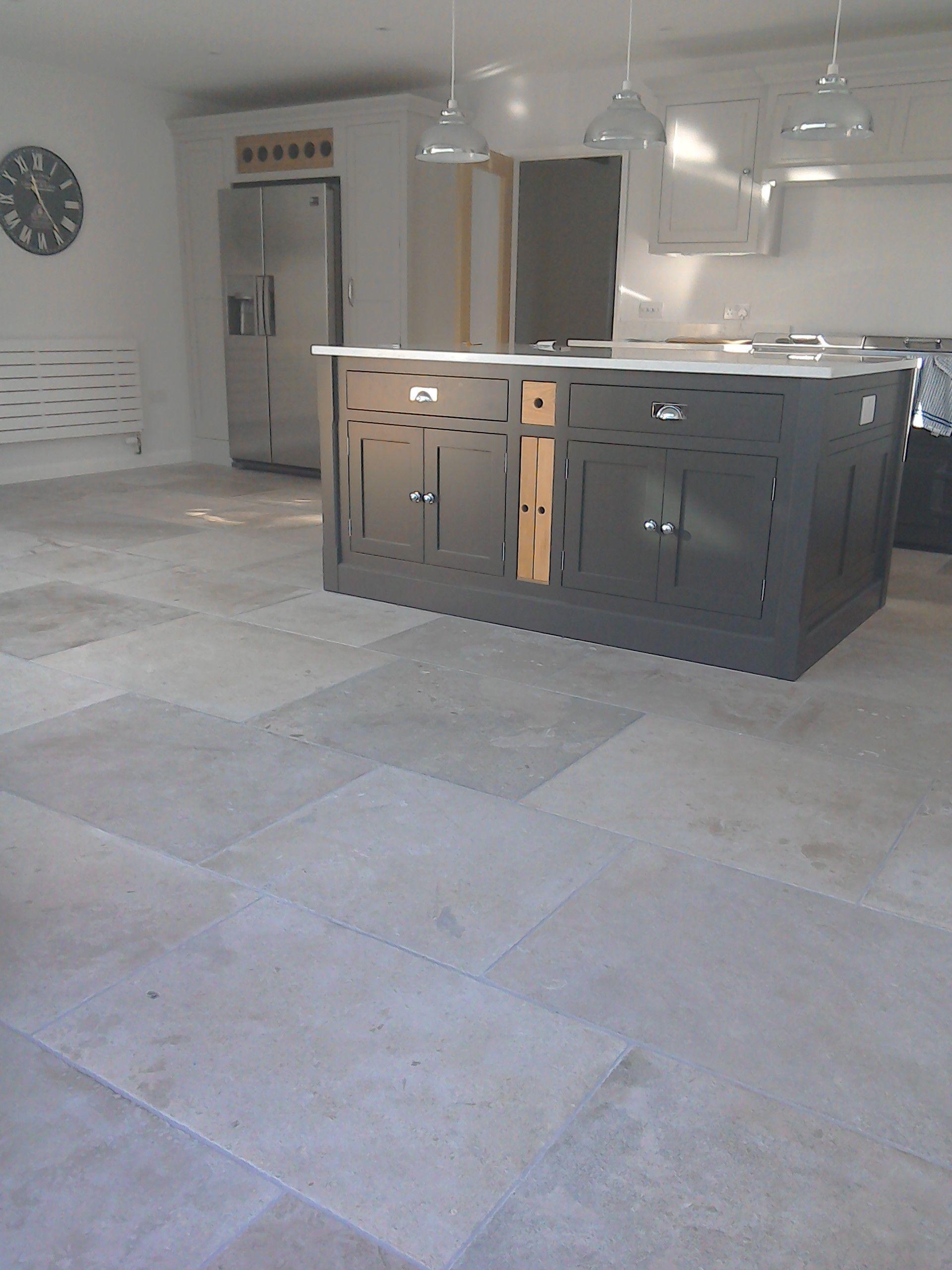 Manoir Grey French Limestone Flooring Grey Kitchen Floor