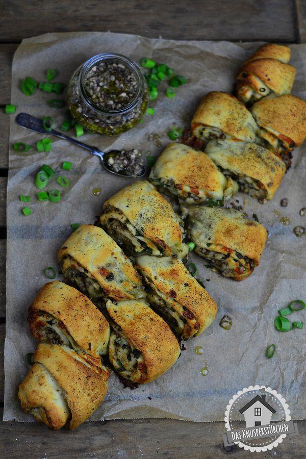 Würzig gut: Herbstliche Pinwheels mit Pilz Pesto und schwarzem Pfeffer