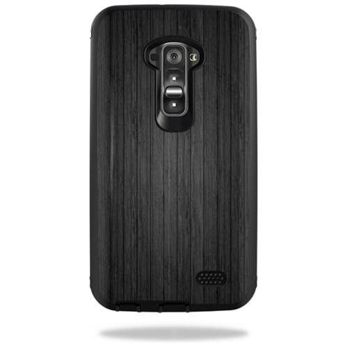 Mightyskins Protective Vinyl Skin Decal Cover for Otterbox Defender LG G Flex Case cover wrap sticker skins Black Wood