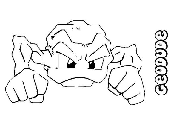 Geodude Pokemon Coloring Page Pokemon Coloring Pages Pokemon