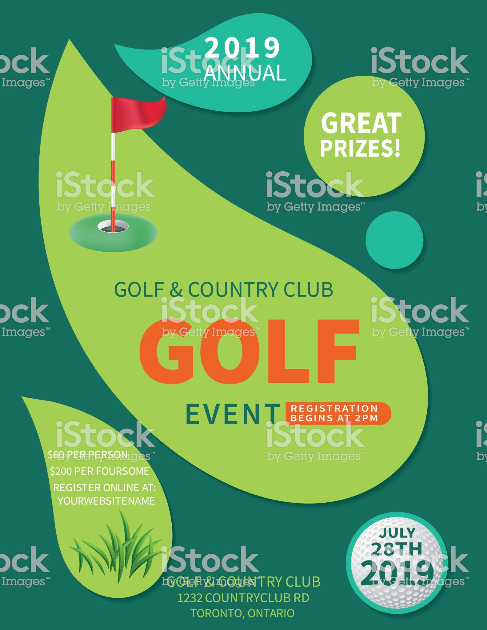 Modern Golf Tournament With A Putting Green Flag And Copy Space Royalty Free Modern Golf Tournament With A Puttin Golf Event Event Flyer Event Flyer Templates