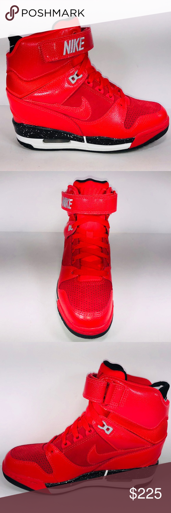94cce04f343c Womens Nike Air Revolution Sky Hi Action Red Shoes New With Damaged Box See  Pictures For