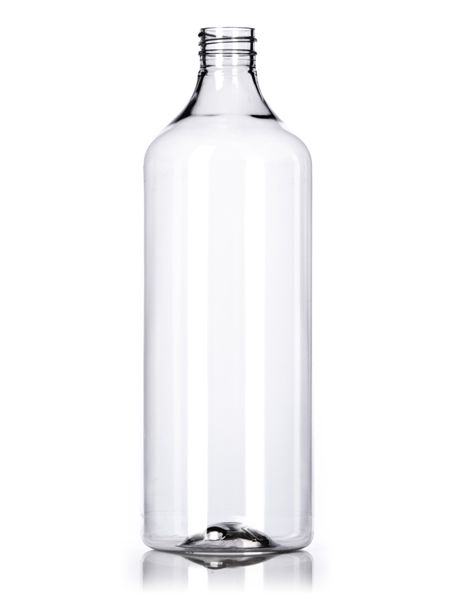 90af89e28d6f 32 oz clear PET generic round bottle with 28-400 neck finish : Other ...