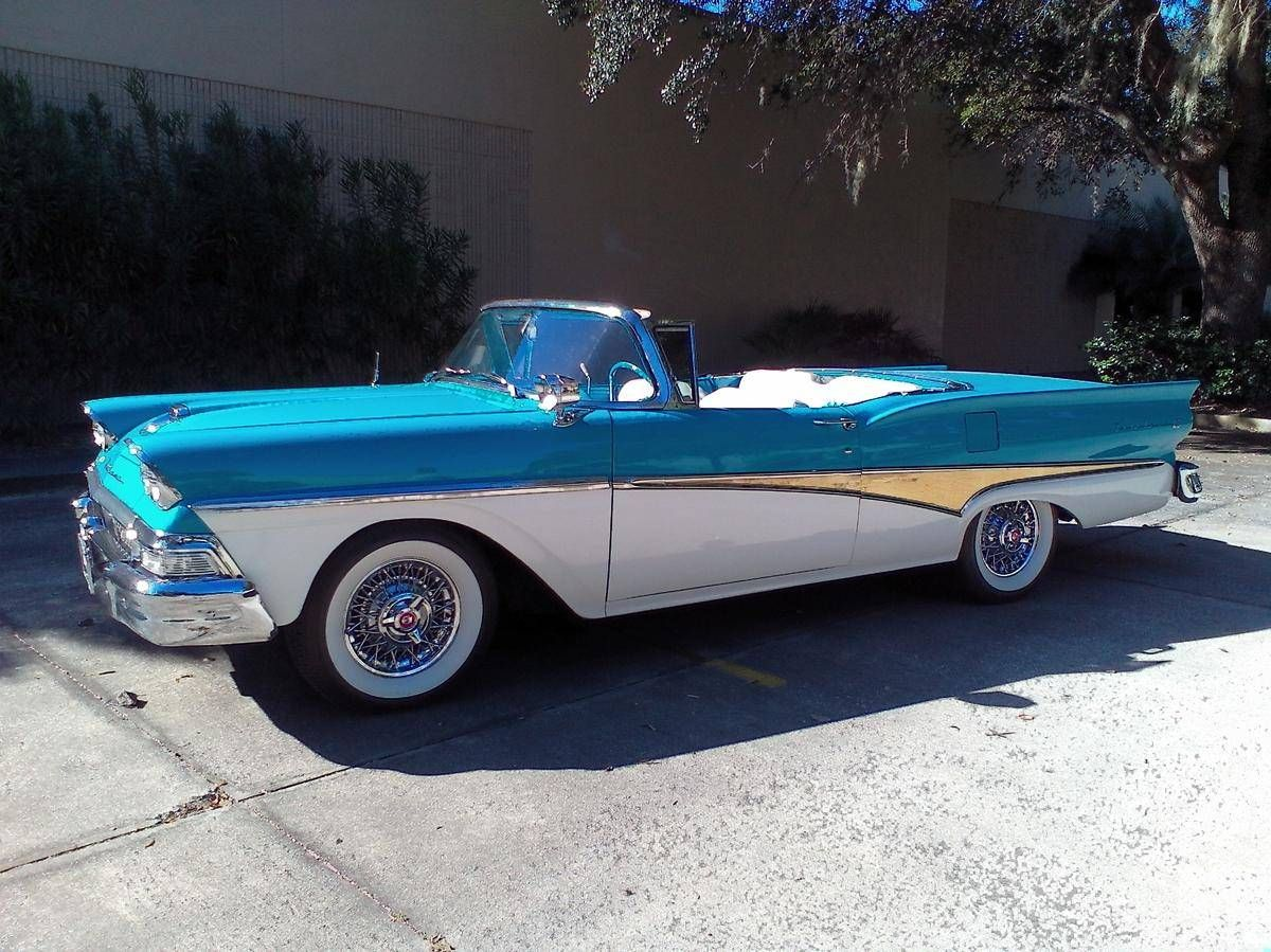 1958+Ford+Fairlane+500+SKYLINER+RETRACTABLE+HARDTOP | classic cars ...