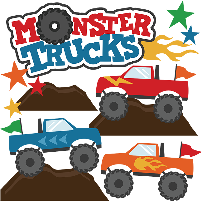monster trucks svg scrapbook collections monster trucks cut files rh pinterest com monster truck clipart black and white blaze monster truck clipart