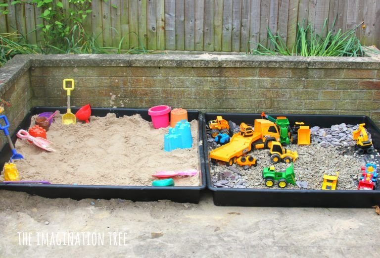 Make Some Outdoor Sensory Play Areas For Toddlers And Preschoolers With These Two Simple Ideas A Play Area Backyard Outdoor Play Areas Outdoor Kids Play Area