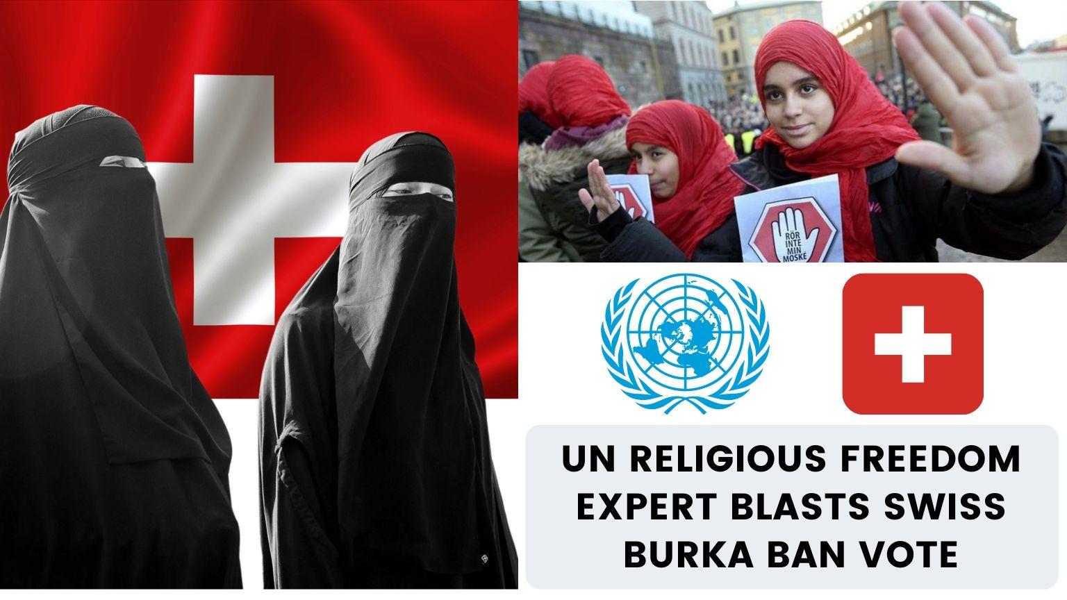 UN Religious Freedom Expert Blasts Swiss Burka Ban Vote 🇨🇭