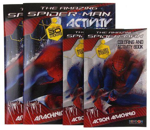 The Amazing Spiderman Activity Coloring Book Lot 4 Marvel Action Arachnid Attack Amazing Spiderman Spiderman Book Activities