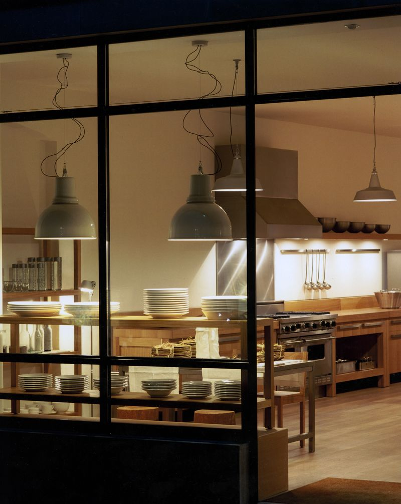 Industrial kitchen but still cozy exactly how i like it - Commercial kitchen lighting design ...