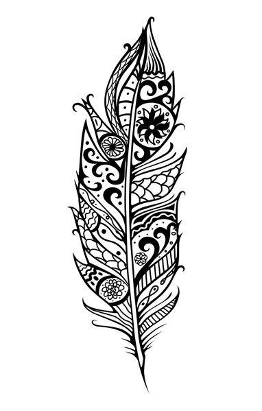 Maori Feather Tattoo: Panache Temporary Tattoo Http://www.strepik.com/products