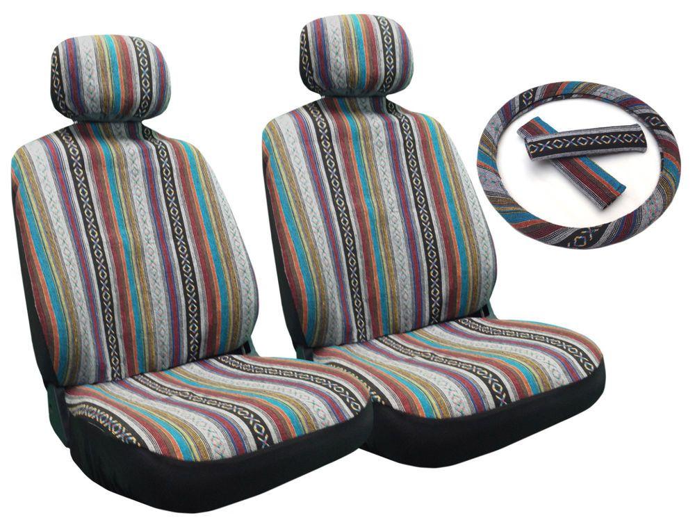 Saddle Blanket Front Seat Steering Wheel Covers Baja Inca Tribal Honda Element Seat Covers Honda Element Jeep Seat Covers