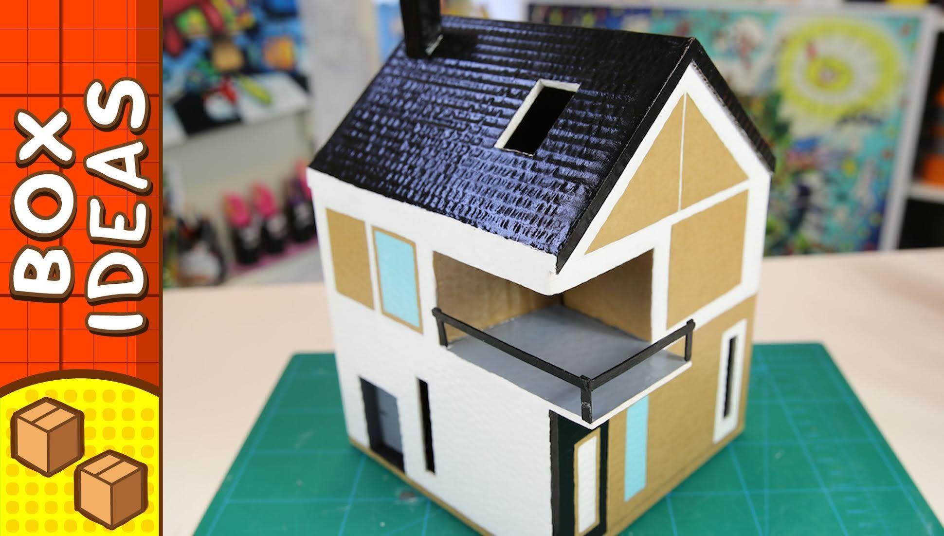 DIY Cardboard House   Scandinavian | Craft Ideas For Kids On Box Yourself