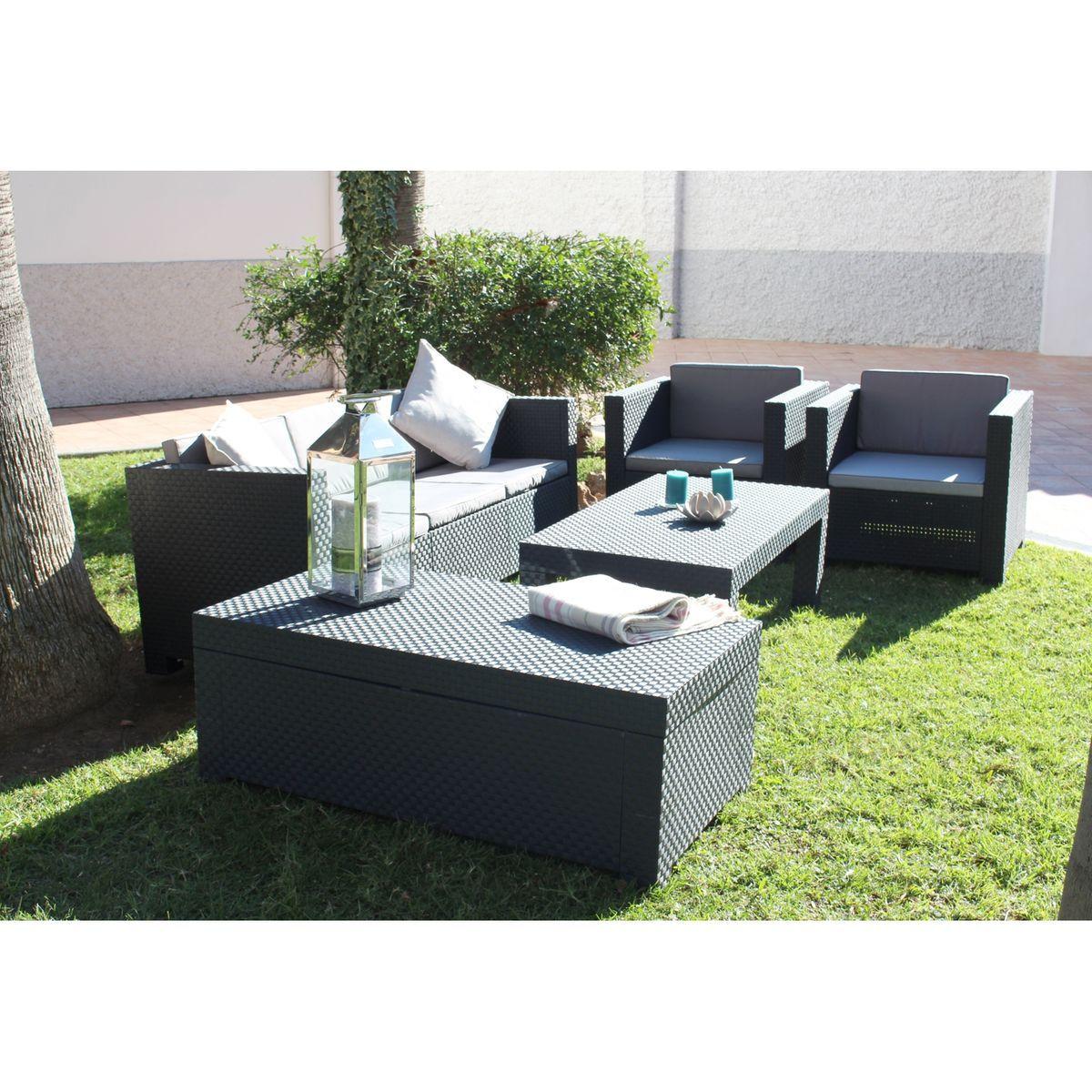 Salon de jardin résine tressée 5 places, Tropea | Products ...