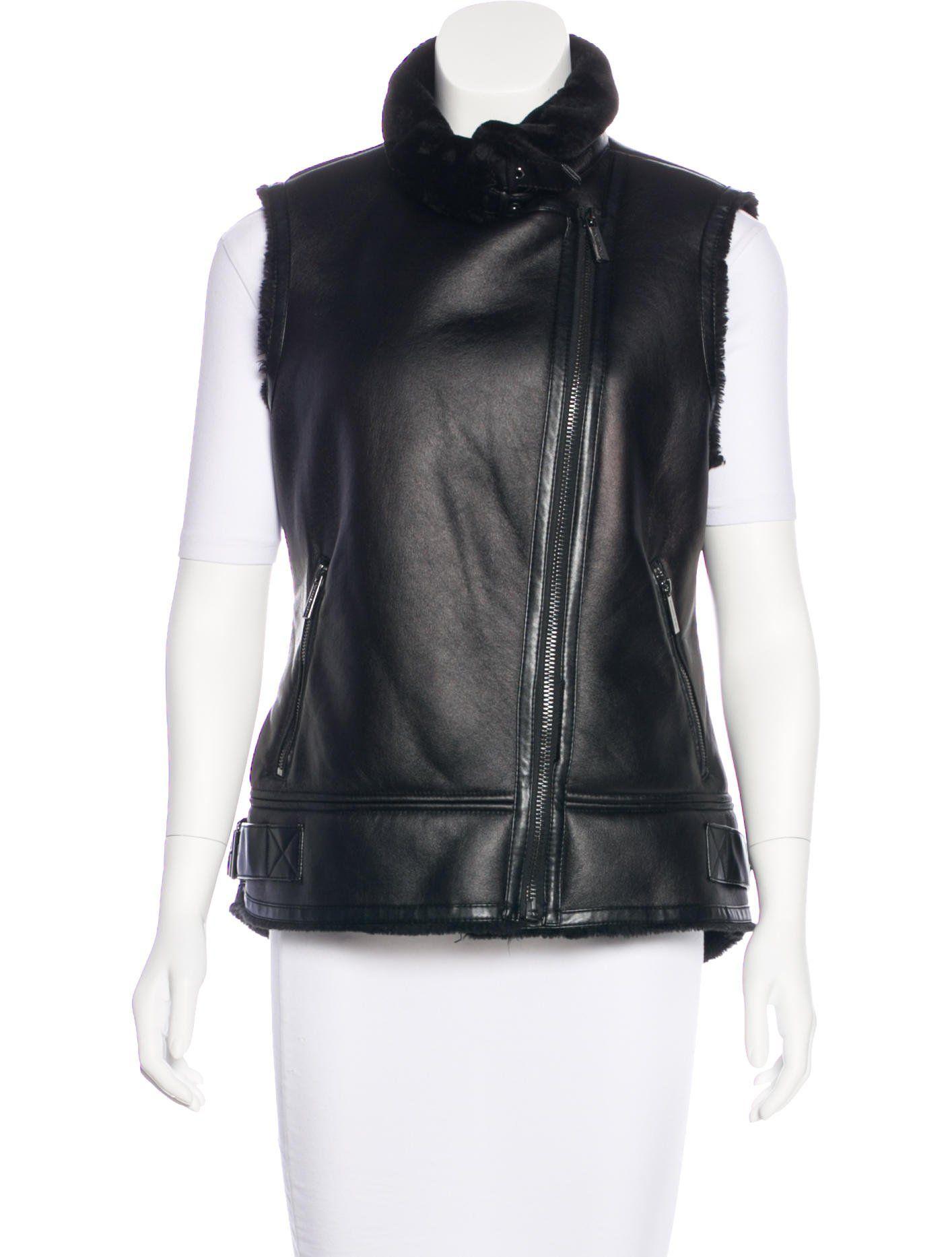 9905a910a5b Michael Michael Kors Sleeveless Zip-Up Vest - Clothing - WM525338 | The  RealReal