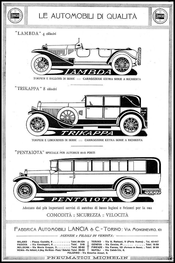 Lancia Lambda Trika Pentaiota Extra Serie Agenzie 1925 Ebay Clic Cars Vintage