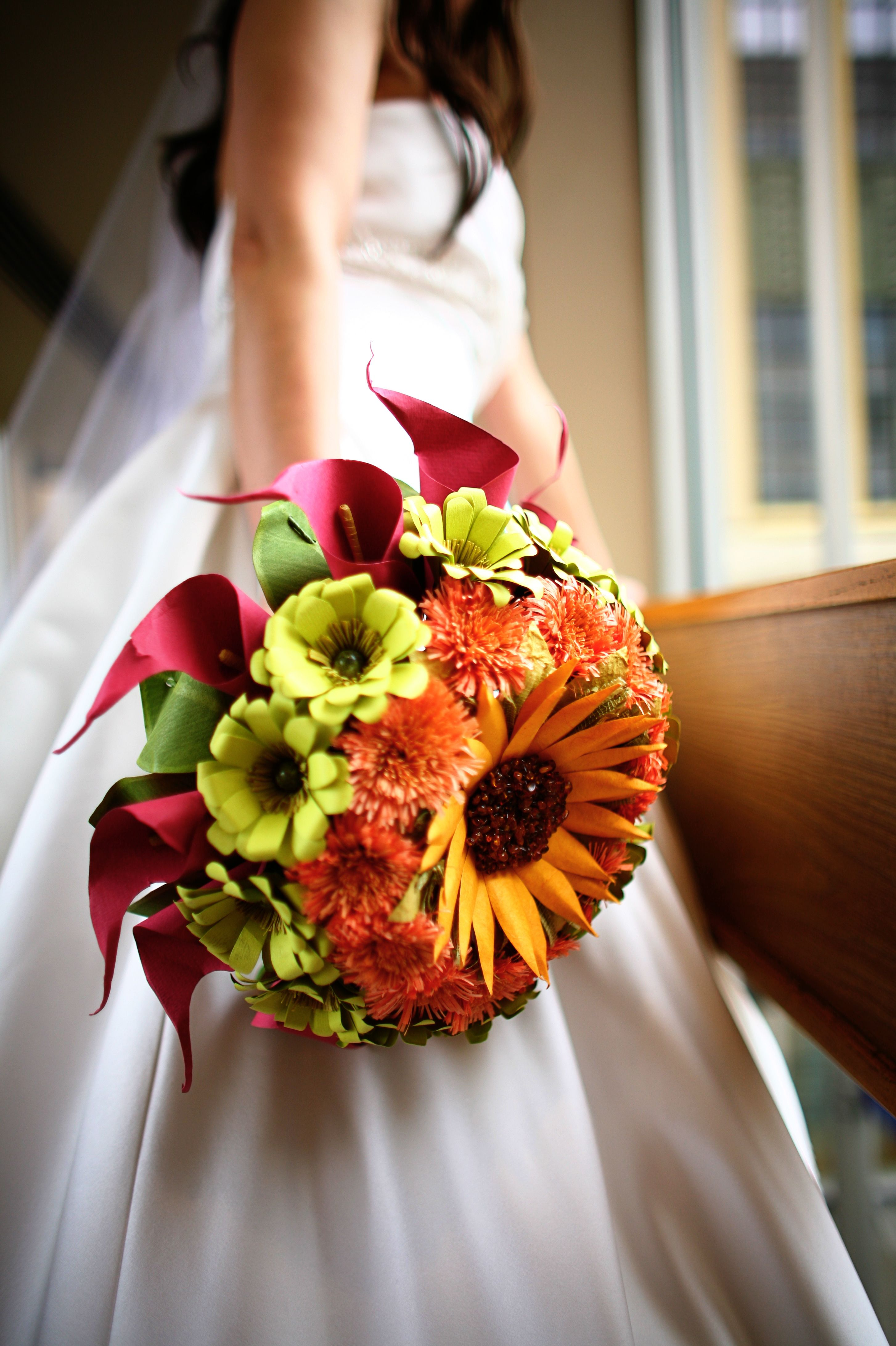 Biedermeier paper flower wedding bouquet Paper flowers