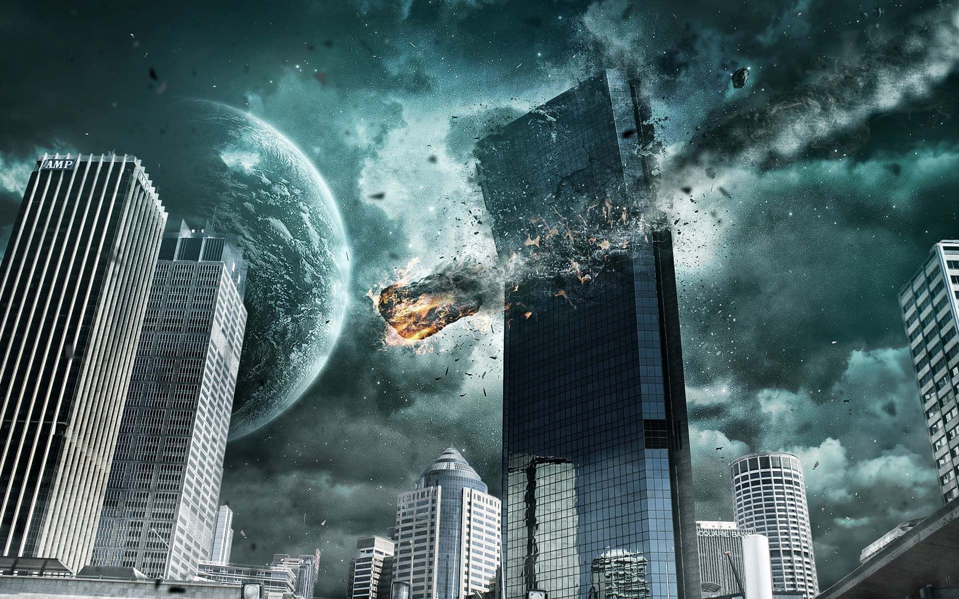 1920x1200 City Destroyed By Aliens 4k Ultra Hd Backgrounds Wallpaper City Background Background Pictures Background