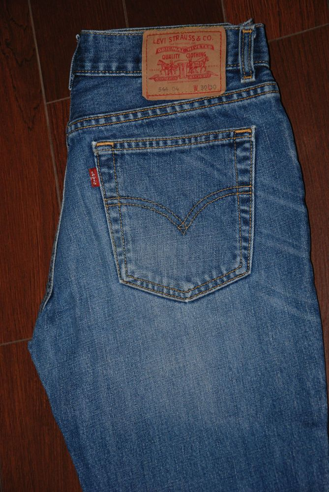 c1a2ad58ec4 Vintage LEVIS 544 04 WOMENS JEANS Flared BOOT CUT BELL LEG FADED BLUE W 30  L 28