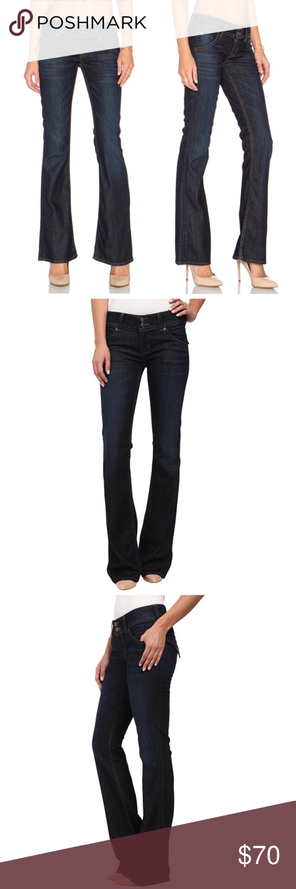 7cb1303ab35 These Hudson Signature Firefly Dark Wash Bootcut Blue Jeans are so  flattering!