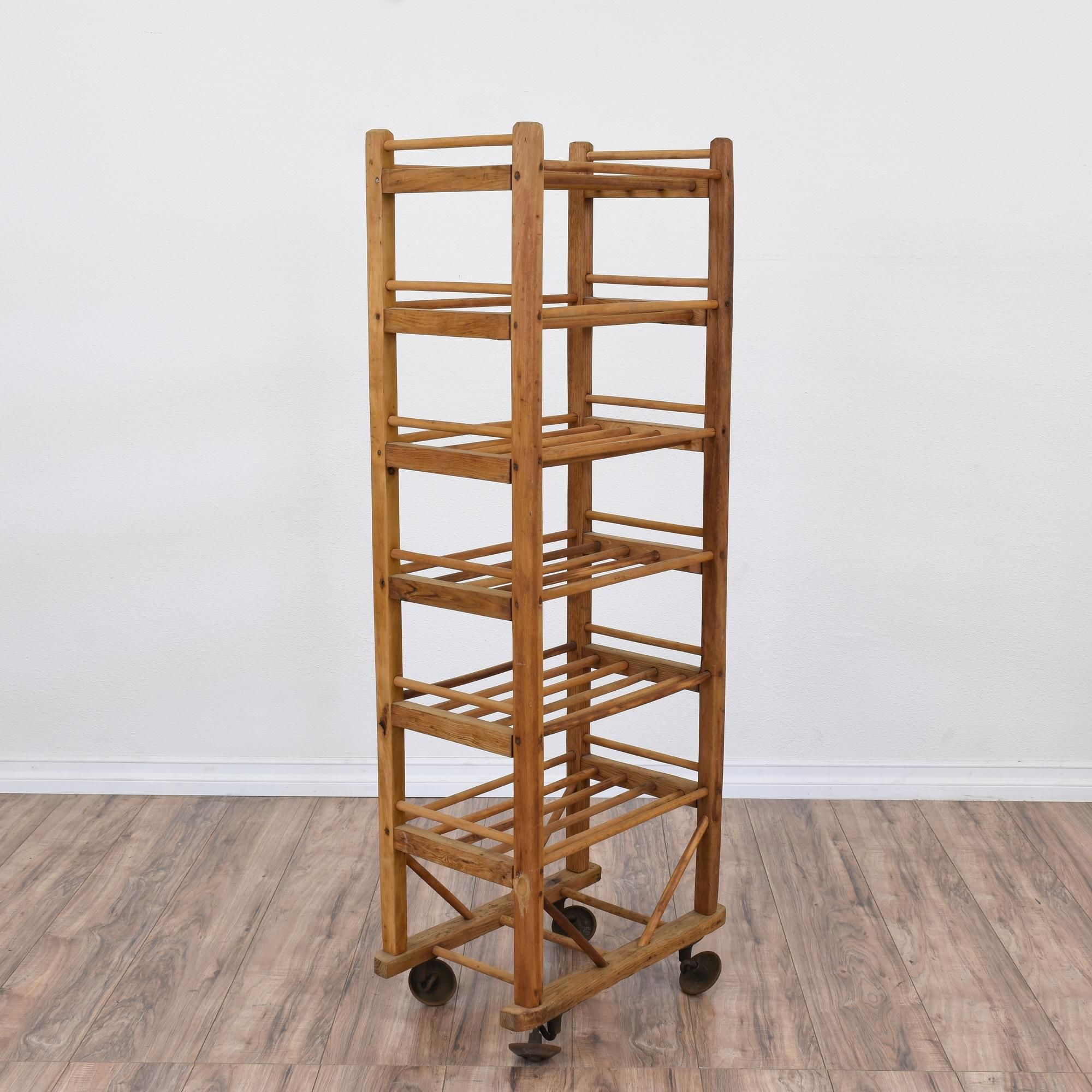 steel industrial furniture sale french more racks wood f of rolling and id at collectibles for one available org rack pair