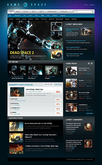 Games Portal WordPress Themes by Oldman Gaming Website - wordpress resume theme