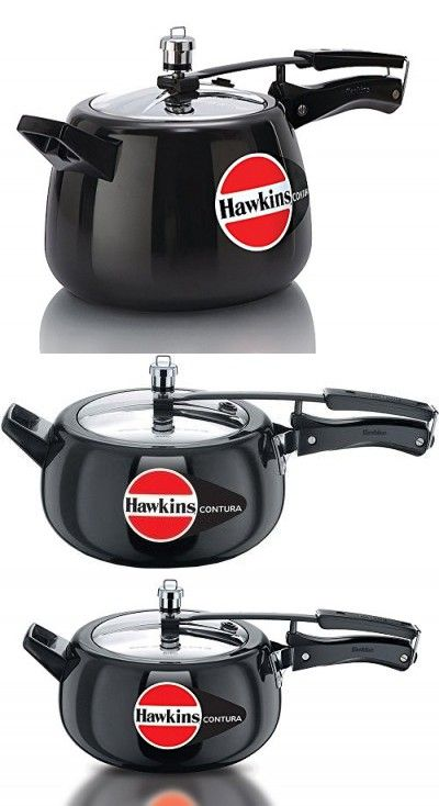 a20863abb ORIGINAL HAWKINS CONTURA BLACK 5 LITRE ALUMINIUM PRESSURE COOKER WITH  STAINLESS STEEL LID WITH DHL SHIPPING