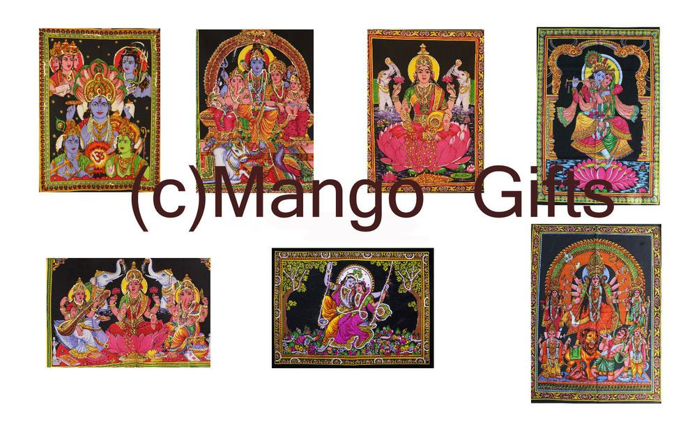 Wholesale lot 25 Pcs Indian Goddess Tapestry cloth Wall Hanging ...