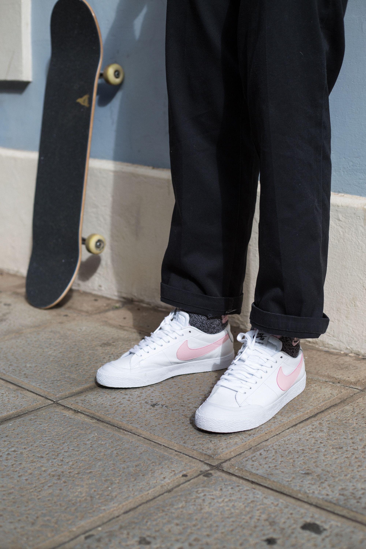 Nike Sb Pink Motel Blazer Low Xt Skatedeluxe Sk8dlx Nikesb Skateboarding Skate Shoe Brands Nike Sb Skate Shoes