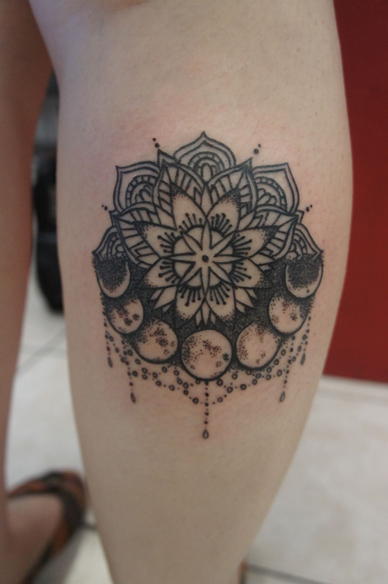 d5c6b06503028 91 Moon Tattoos That Are Out of This World | Tattoo Ideas | Mandala ...