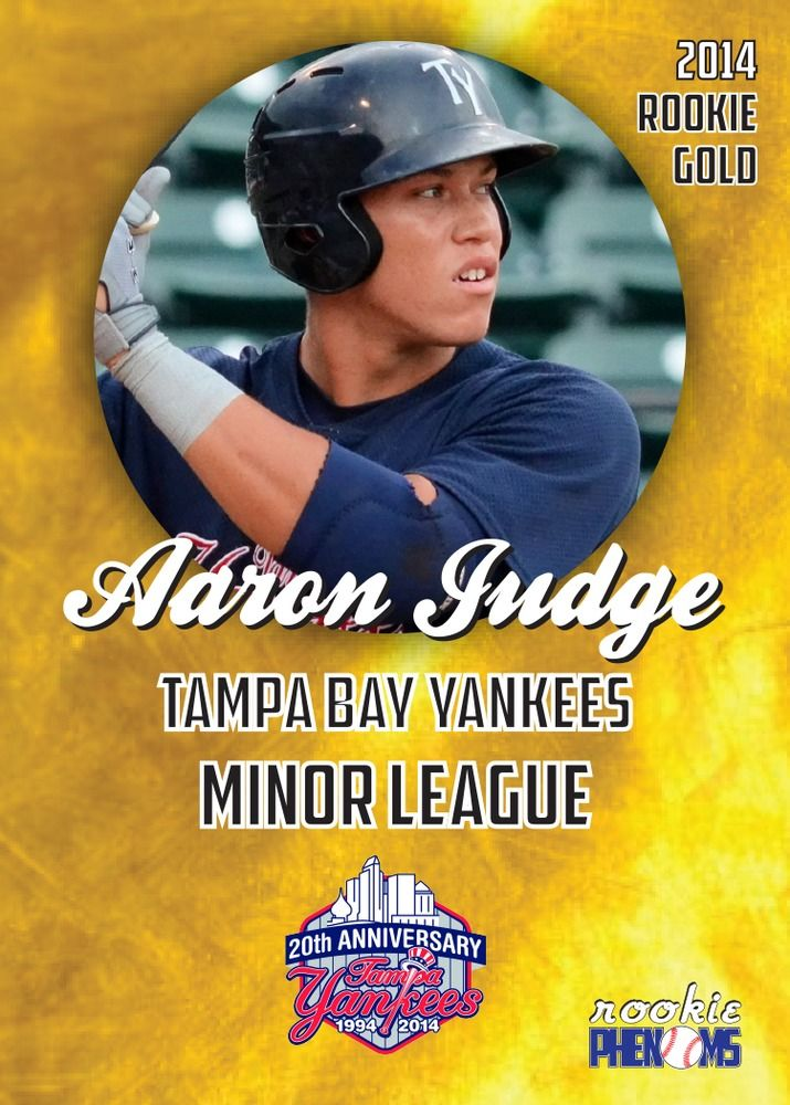 Details About 3 Aaron Judge Tampa Bay Yankees 2014 First