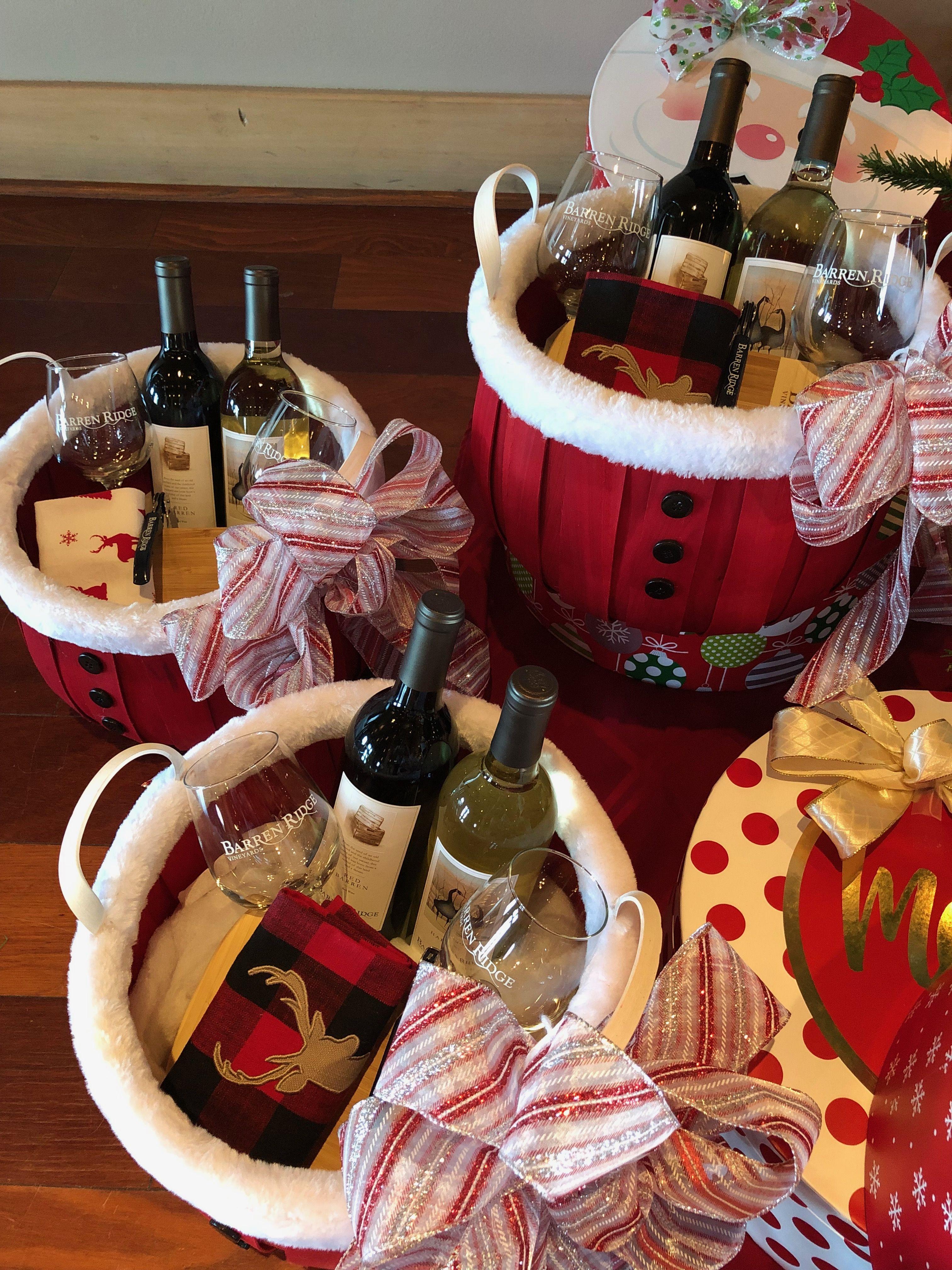Santa Gift Baskets At Barren Ridge Vineyards Barrenridgevineyards Winery Wine Vineyard Giftbaskets Gift Baskets Wine Tasting Santa Gifts
