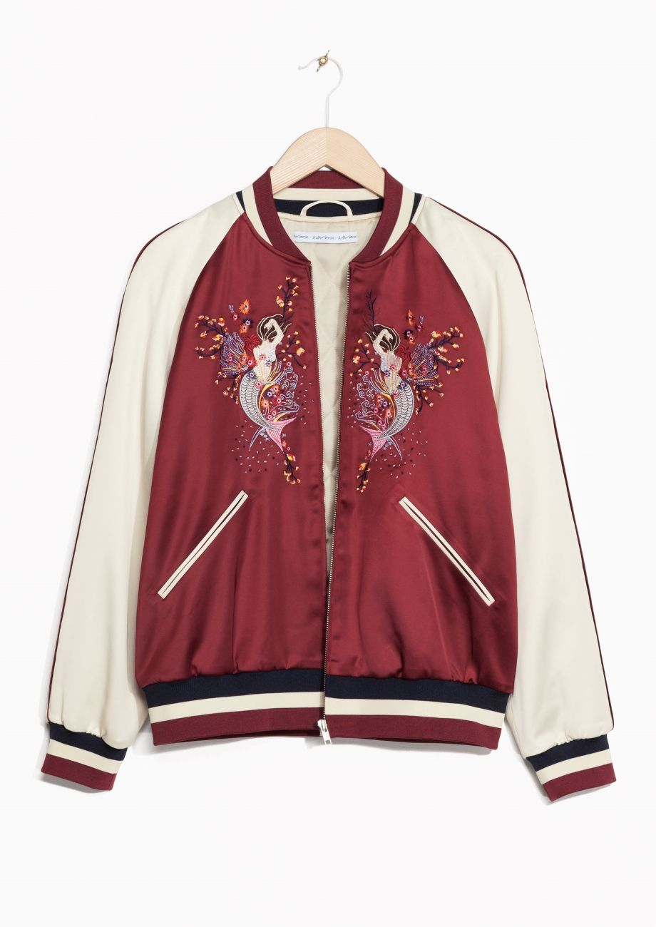 b4ef2f1588e & Other Stories | Embroidered Bomber Jacket | Clothing in 2019 | Red ...