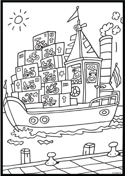 de pakjesboot sinterklaas kleurplaten