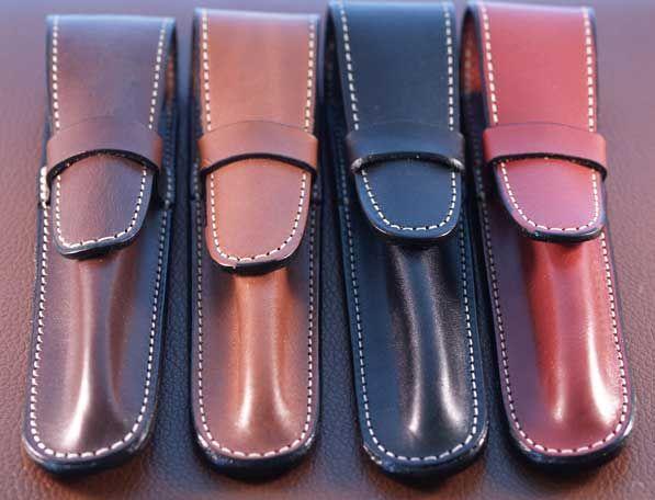 Top Grain Leather Pen Case