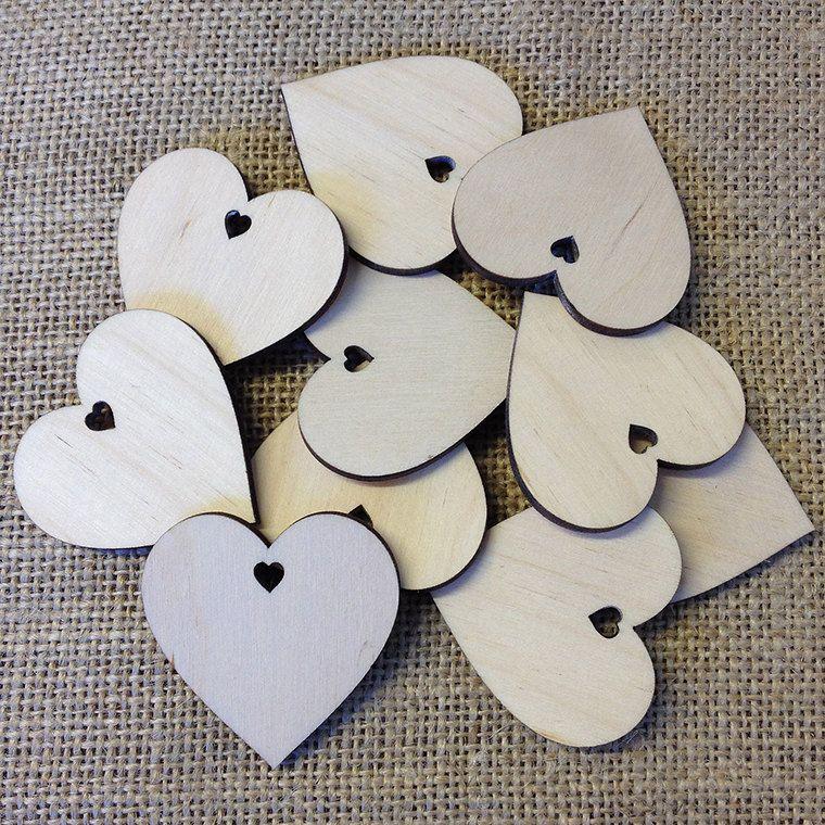 Artcuts Wooden Heart With Heart Hole 4cmd Heart Guest Book Wooden Hearts Handmade Wedding