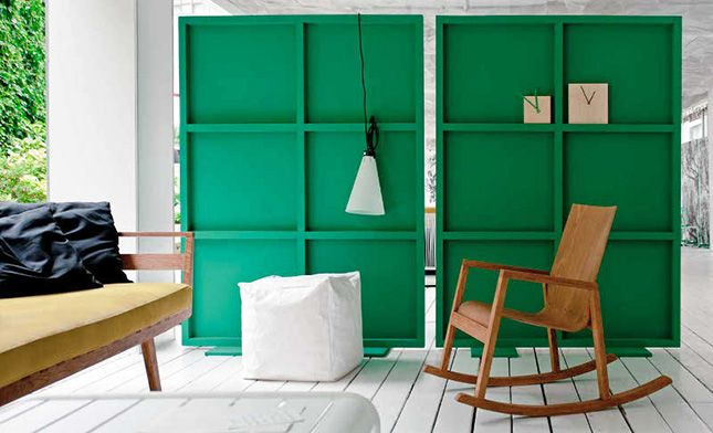 Hide exercise equipment, create a private reading nook, make a