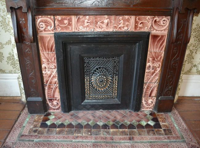 vintage fireplace tile google search - Fireplace Fronts