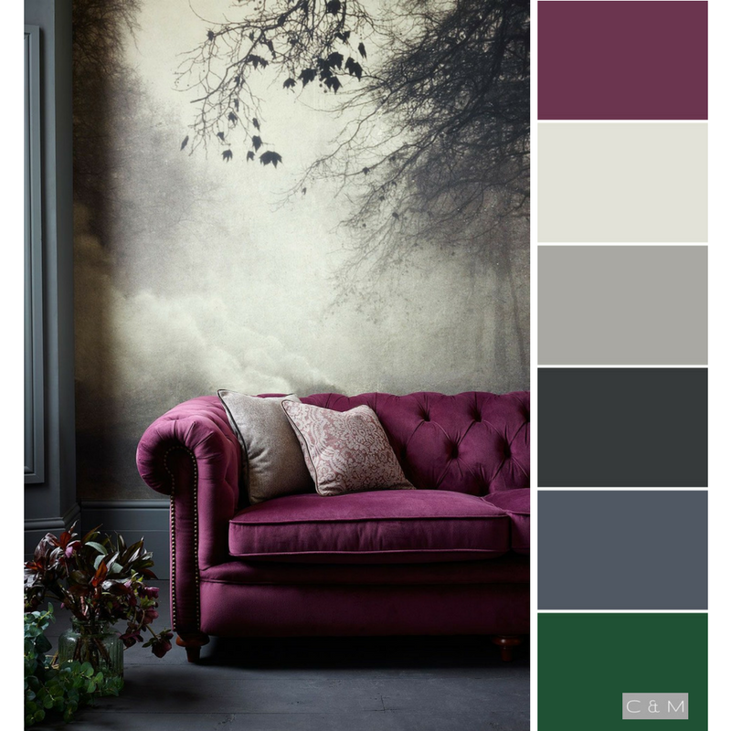 Magenta Green And Gray Living Room Decor Purple Green Living