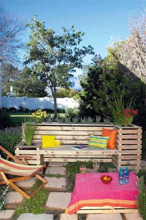 35 ideas DIY geniales para crear tu propio banco de jardin 21