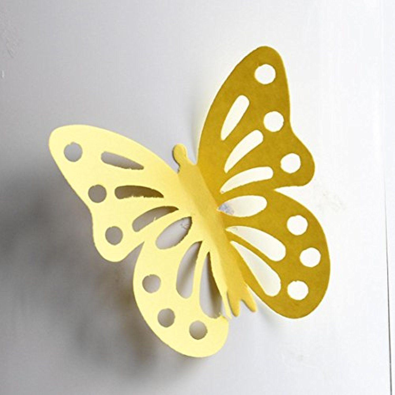 DIY Home Decor Decal, Lotus.flower 12Pcs 3D Hollow Emulational ...