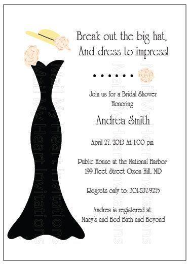 Image result for bridal shower invitations with hats on them image result for bridal shower invitations with hats on them stopboris Image collections