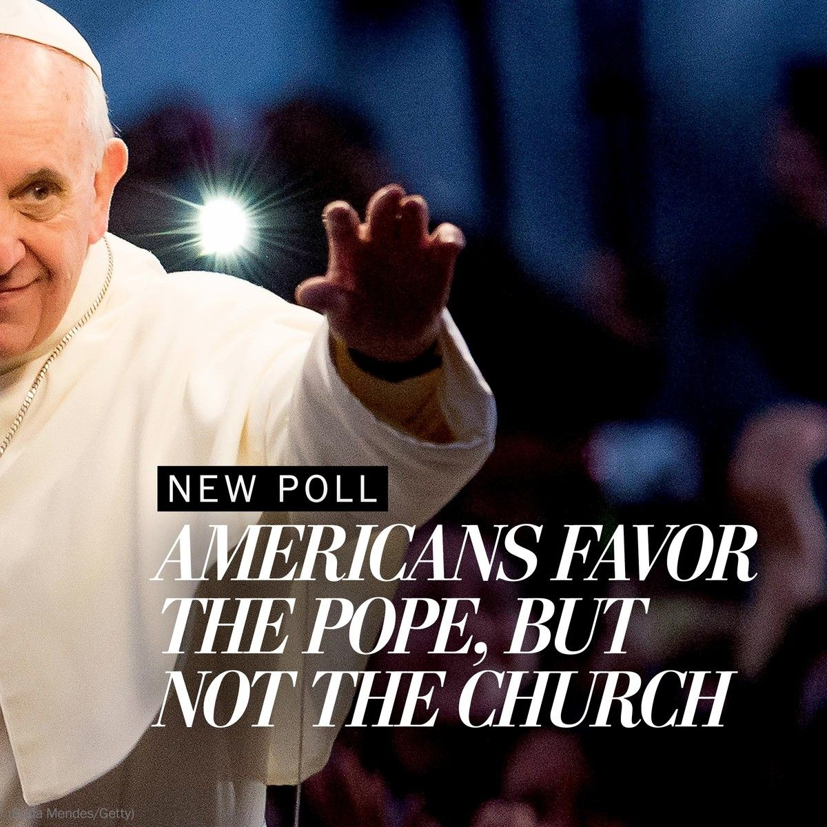 Poll: Americans widely admire Pope Francis, but his church less so